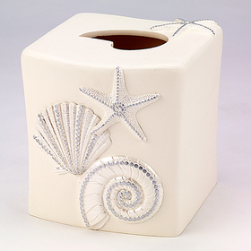 Avanti Sequin Shells Tissue Holder