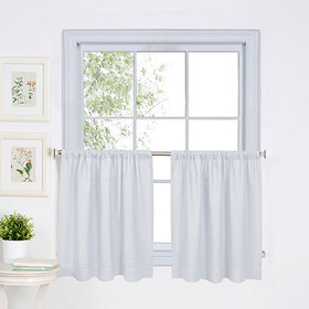 Cameron Kitchen Curtains - White
