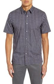 Theory Irving Adder Slim Fit Print Short Sleeve Bu