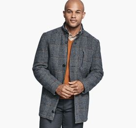 Johnston Murphy Plaid Wool Coat
