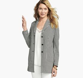 Johnston Murphy Long Knit Blazer
