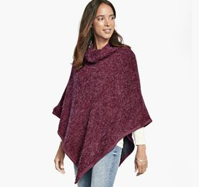 Johnston Murphy Fuzzy Knit Poncho