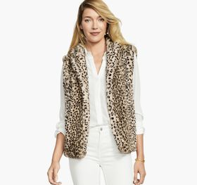 Johnston Murphy Faux-Fur Leopard Vest