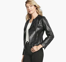 Johnston Murphy Leather Moto Jacket
