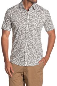 Michael Kors Slim Fit Splatter Floral Short Sleeve