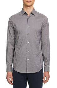 Theory Murray Gingham Long Sleeve Button-Up Sport