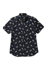 Ben Sherman Short Sleeve Floral Print Woven Shirt