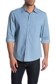 Perry Ellis Rolled Sleeve Linen Button Down Shirt
