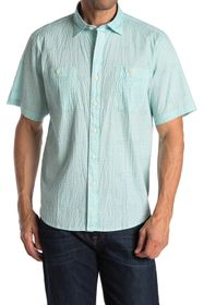 Tommy Bahama Breeze Block Geo Short Sleeve Seersuc