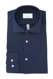 Perry Ellis Slim Fit Tech Printed Dress Shirt