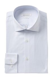 Perry Ellis Check Print Tech Slim Fit Shirt