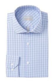 Perry Ellis Windowpane Slim Fit Dress Shirt