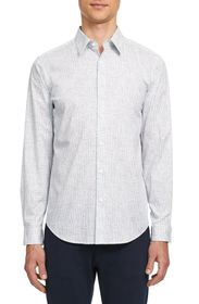 Theory Irving Thordon Print Button-Up Shirt