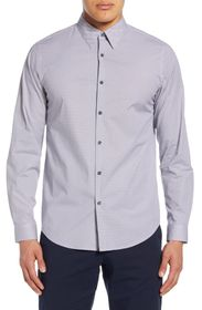 Theory Irving Douglas Slim Fit Diamond Grid Button