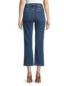 7 For All Mankind Buttoned Cropped Jeans