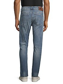 G-Star RAW 3301 Slim Distressed Button-Fly Jeans