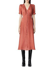 The Kooples - Button Front Jacquard Midi Dress