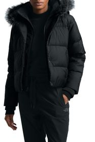 The North Face Deallo Quilted Faux Fur Trim Crop J