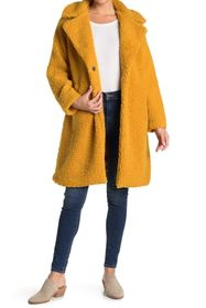 Lucky Brand Faux Shearling Mid Jacket