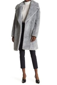 Donna Karan Faux Fur Teddy Coat