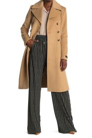 Donna Karan Wool Blended Brody Coat