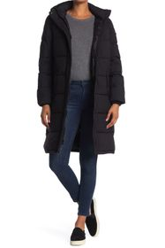 BCBG Long Eco Duvet Hooded Puffer Coat