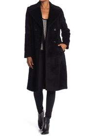 Donna Karan Belted Suri Alpaca Wool Blended Coat