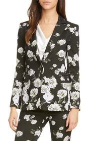 alice + olivia MACEY NOTCH CLLR FITTED BLAZER