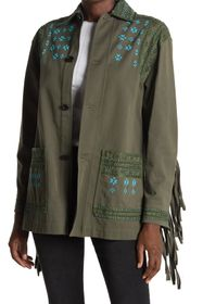 Valentino Beaded Embroidered Fringe Back Jacket