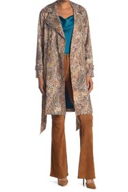 L'AGENCE Atticus Printed Trench Coat