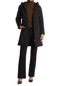 Donna Karan Quilted Reglandy Coat