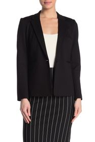 T Tahari Ponte Single Button Blazer