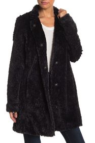 Kenneth Cole New York Shaggy Faux Fur Coat