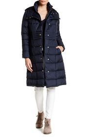 Cole Haan Hooded Quilted Coat
