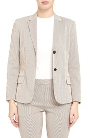 Theory Seersucker Stripe Blazer