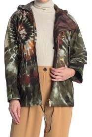 Valentino Ricamoto Beaded Tie-Dye Hooded Jacket