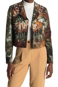 Valentino Ricamato Beaded Tie-Dye Crop Jacket