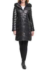 KENNETH COLE Faux Fur Hood Puffer Jacket