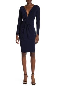 bebe Knot Front V-Neck Dress