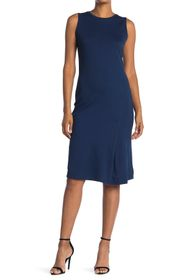 T Tahari Sleeveless Ponte Knit Midi Dress