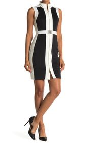 Tommy Hilfiger Colorblock Front Zip Sheath Dress
