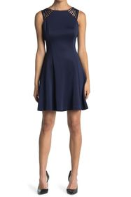 GUESS Fit And Flare Dress With Shoulder Detailing