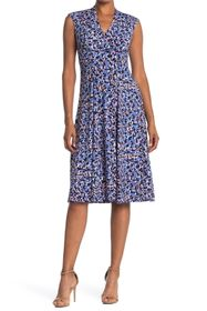 Vince Camuto Ditsy Print Ruched Fit & Flare Midi D