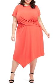 Maggy London Draped Asymmetrical Dress