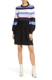 Vince Camuto Balloon Sleeve Fit & Flare Sweater Dr