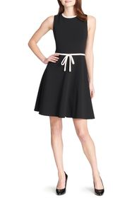 Tommy Hilfiger Sleeveless Waist Tie Fit & Flare Dr