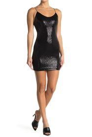 alice + olivia Nelle Sparkly Bodycon Mini Dress