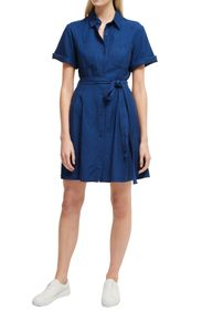 French Connection Leila Tie Waist Shirt Dress