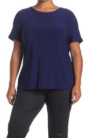 Anne Klein Solid Button Back T-Shirt