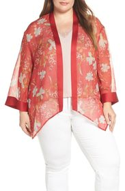 Vince Camuto Graceful Wildflower Sheer Topper